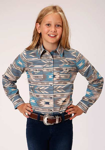 Roper Girls Aztec Shirt