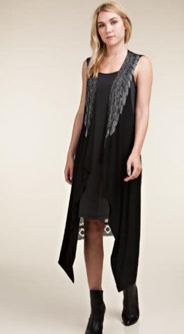Vocal Vest with Wings & Lace
