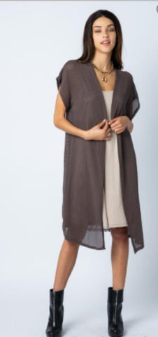 Vocal Cap Sleeve Cardigan