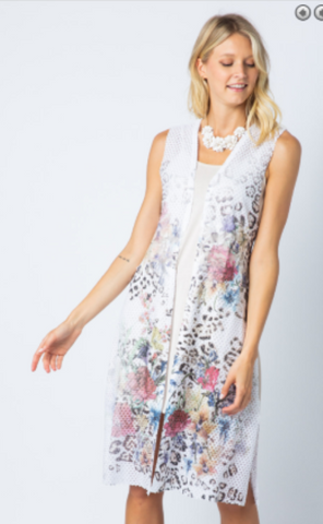 Vocal Floral Animal Print Vest