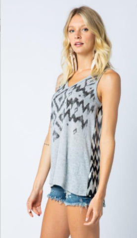 Vocal Sleeveless Print & Stone