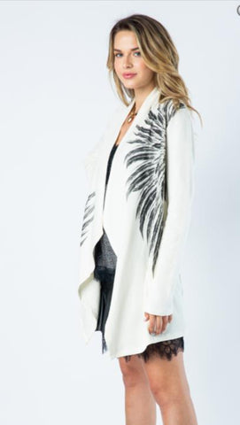 Vocal Long Cardigan Wings
