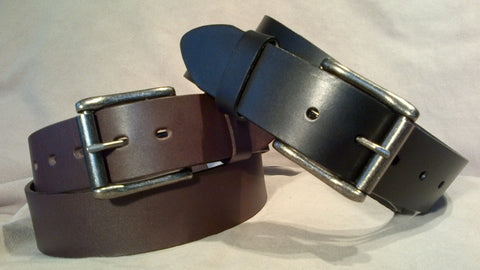 Smooth Brown Roller Buckle