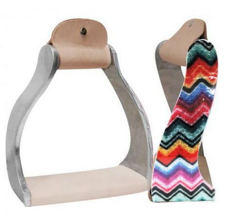 Chevron Print Twisted Stirrups