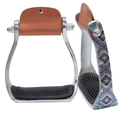 Diamond Print Stirrups