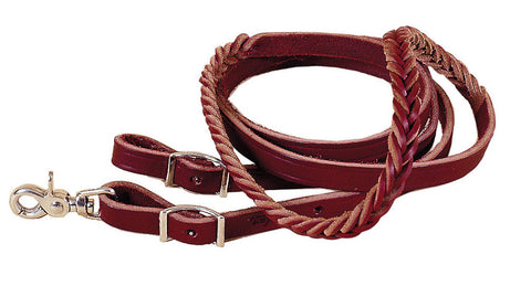 Five Plait Burgundy Latigo Rei