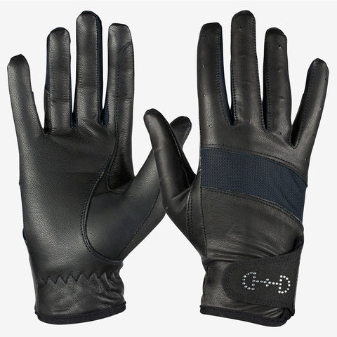 Horze Leather Mesh Glove
