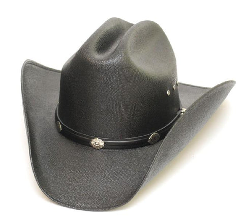 Kids Black Cattleman Hat