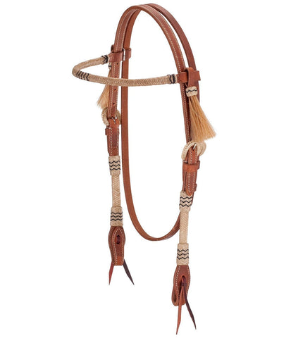 Headstall with Rawhide Brow