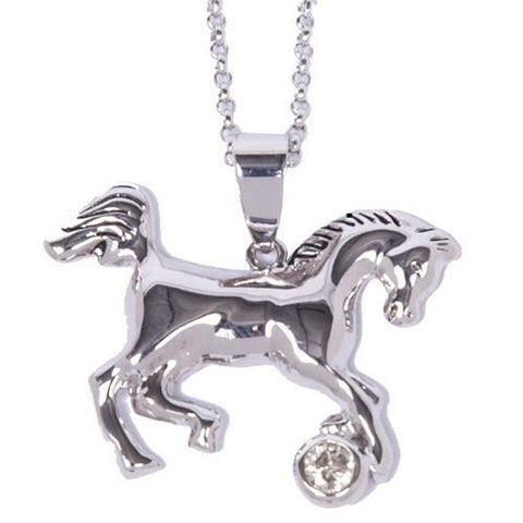 Horse with Stone Necklace