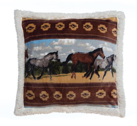 Plush Horses Pillow