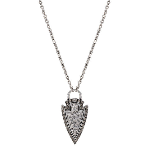 Hammered Arrow Head Necklace