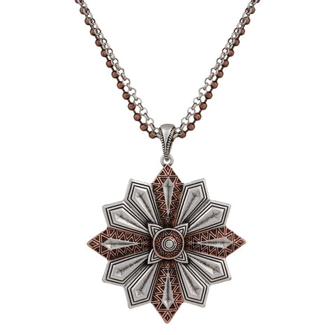 Antique Silver & Copper Neckla