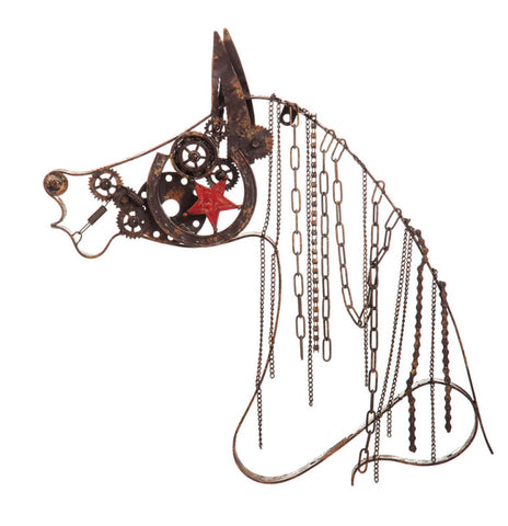 Rustic Wall Decor Horse Chain