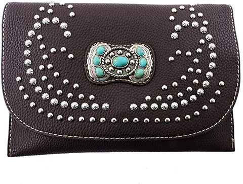 American Bling Studded Clutch