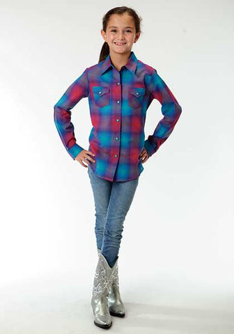 Roper Girls Ombre Plaid