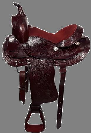 "Pony Western Saddle 12"" Dark"