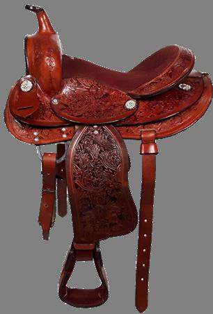 "Pony Western Saddle 12"" Chestn"