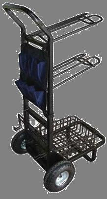 2 Wheel Saddle Rack Cart