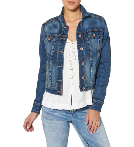 Silver Ladies Denim Jacket