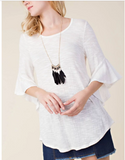 Vocal Knit Swing Top