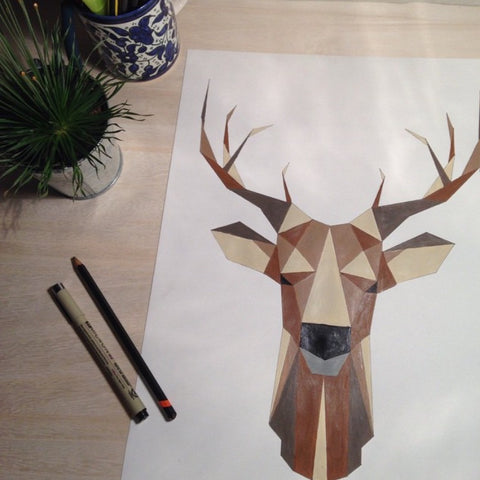 original deer plakat