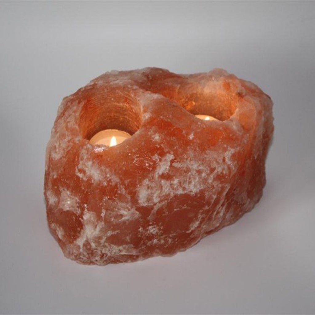 Himalayan Salt Candle Two Hole