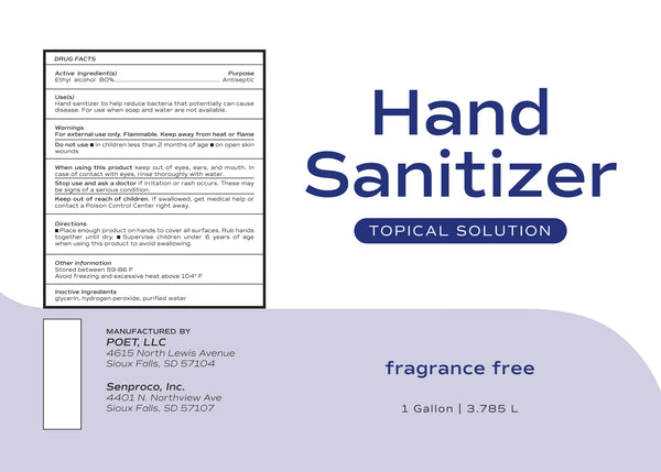 Hand Sanitizer- Topical Solution GALLON SIZE