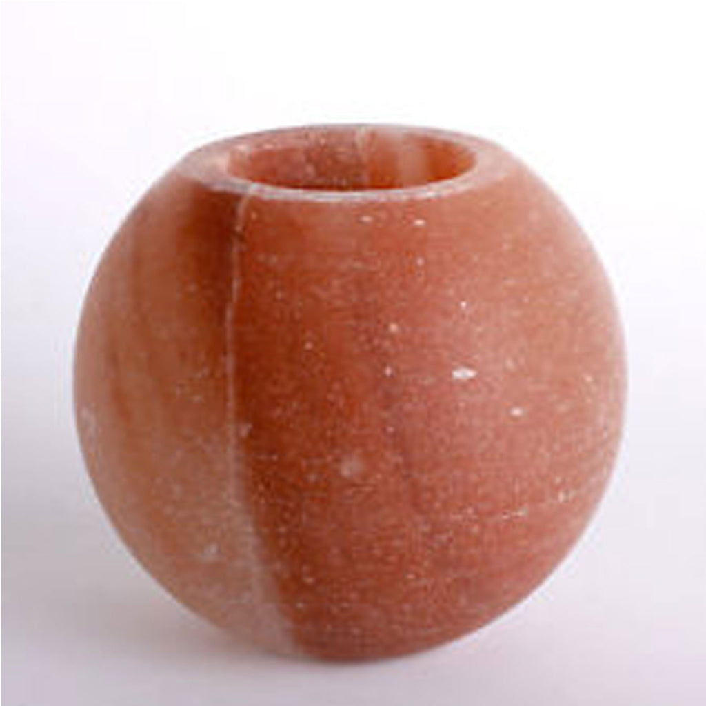 Himalayan Salt Candle Holder Apple Shape