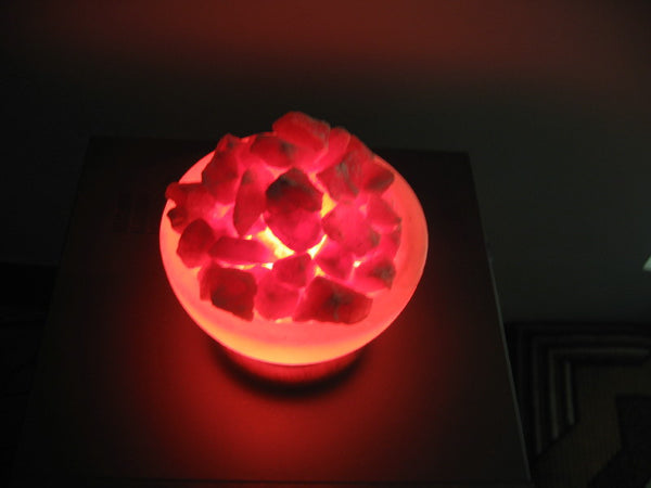 Himalayan Salt Lamp     Abundance Bowl Salt Lamp  8""