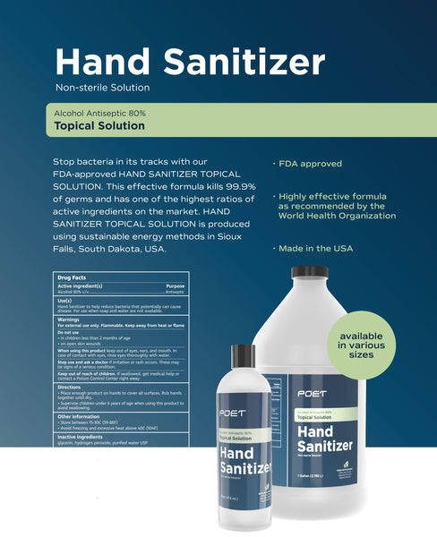 Hand Sanitizer- Topical Solution 18 Ounce Size