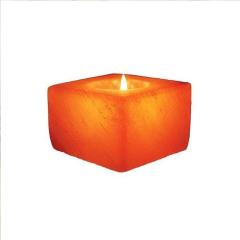 Himalayan Salt Candle    Square Shape
