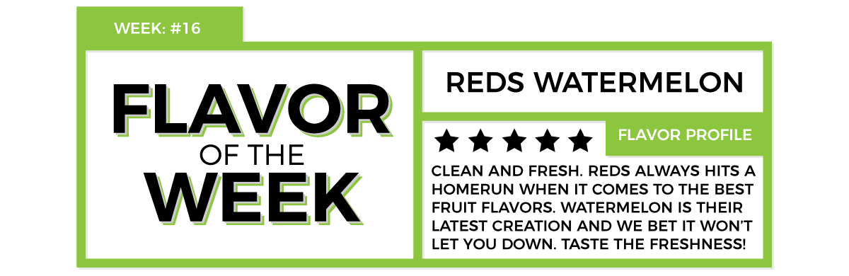 Reds Watermelon eLiquid Flavor of the Week - 120ml.co Premium eLiquid