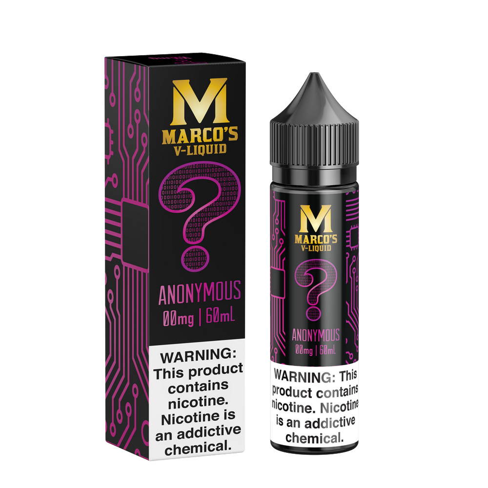 Anonymous by Marco's V-Liquid 60ml - 120ml.co - Best Premium eJuice and Vapor Product Store