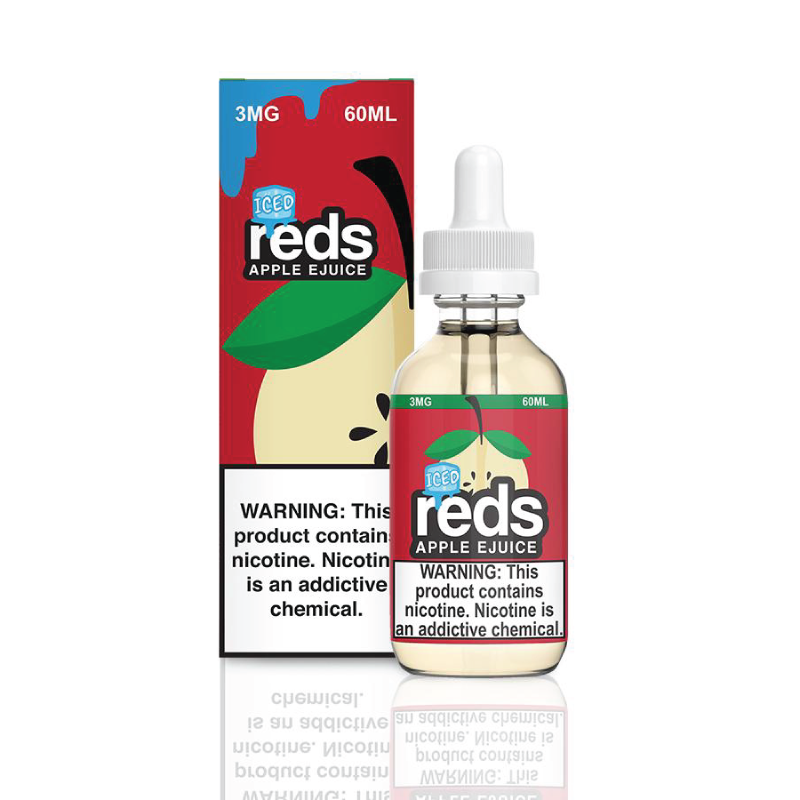 Reds Apple Iced E-Juice (Selfie Sunday) by 7 Daze Vape 60ml - 120ml.co - Premium Large Format eJuice and Vapor Products