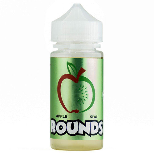 Apple Kiwi Rounds by Rounds E-Liquid 100ml - 120ml.co - Premium Large Format eJuice and Vapor Products