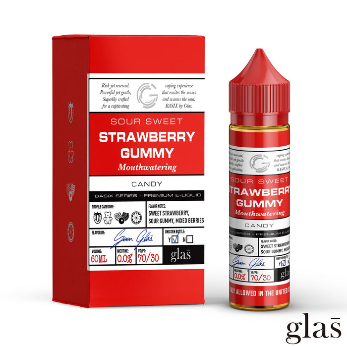 Strawberry Gummy by Glas Basix eJuice 60ml - 120ml.co - Best Premium eJuice and Vapor Product Store