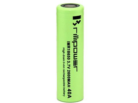 Brillipower 18650 2600mAh 40A Battery - 120ml.co - Premium Large Format eJuice and Vapor Products