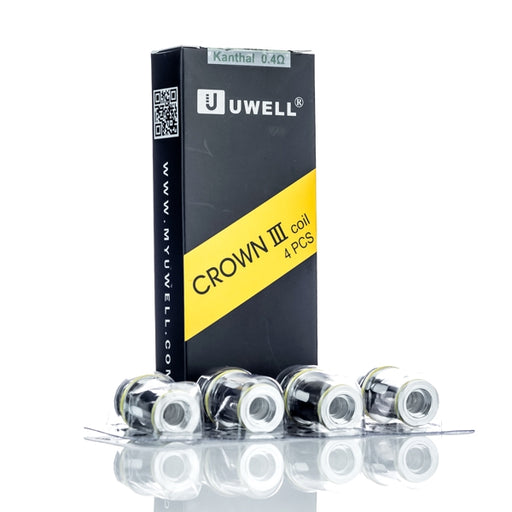 Uwell Crown III (3) Replacement Coil Head (0.4 ohm) 4-Pack - 120ml.co - Best Premium eJuice and Vapor Product Store