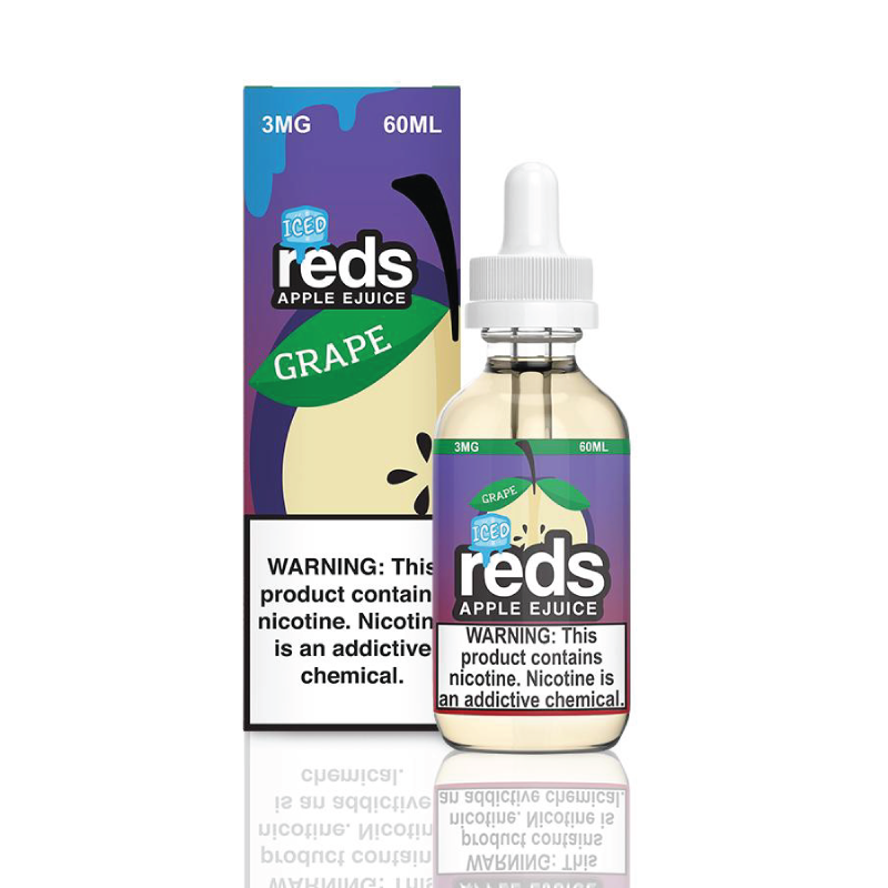 Reds Grape Iced E-Juice by 7 Daze Vape 60ml - 120ml.co - Best Premium eJuice and Vapor Product Store