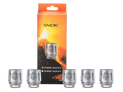 SMOK TFV8 Baby Beast Replacement Q2 Coil Head (0.4 ohm) 5-Pack - 120ml.co - Premium Large Format eJuice and Vapor Products