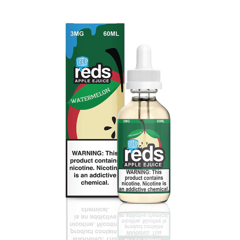 Reds Watermelon Iced E-Juice by 7 Daze Vape 60ml - 120ml.co - Best Premium eJuice and Vapor Product Store