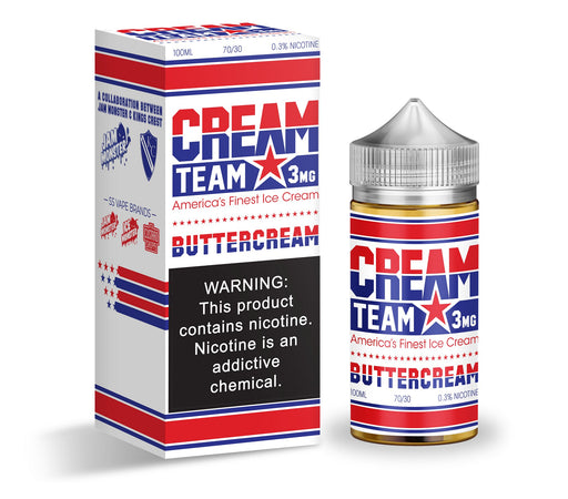 Buttercream by Cream Team eJuice 100ml - 120ml.co - Best Premium eJuice and Vapor Product Store