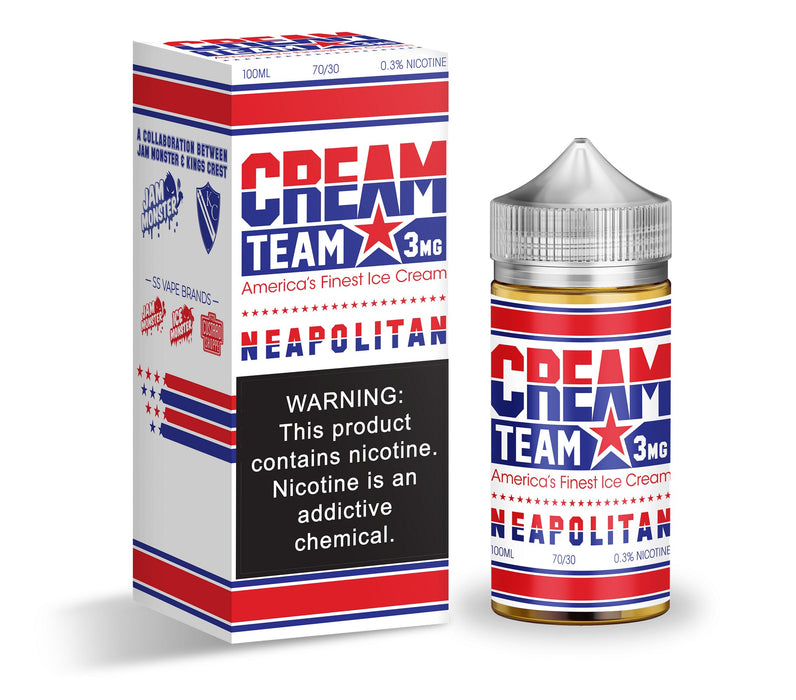 Neapolitan by Cream Team eJuice 100ml - 120ml.co - Best Premium eJuice and Vapor Product Store