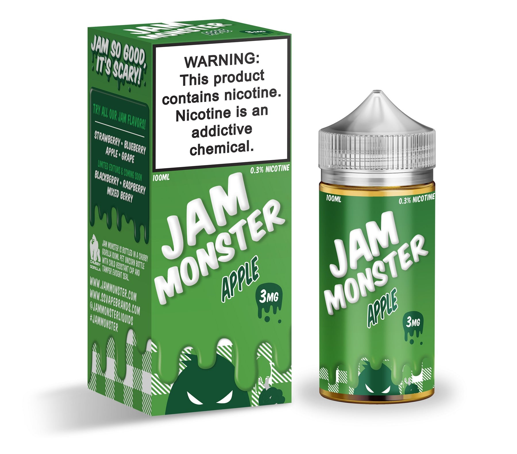 Apple by Jam Monster eJuice 100ml - 120ml.co - Premium Large Format eJuice and Vapor Products