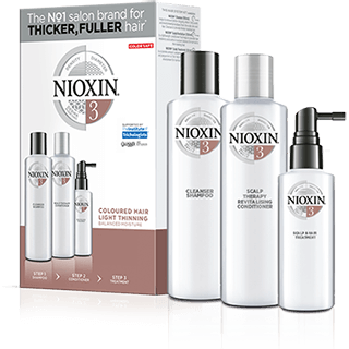 Nioxin 3 Part System 3 For Coloured Hair With Light Thinning