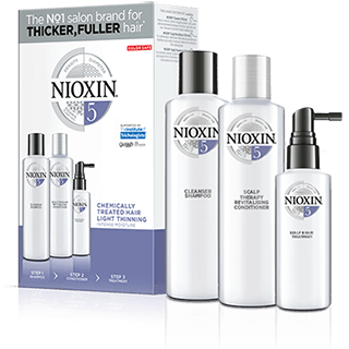 Nioxin 3 Part System 5 For Chemically-Treated Hair With Light Thinning Kit