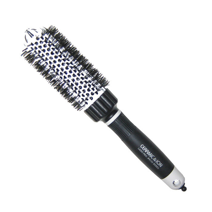 Lado White Ceramic and Ionic Dome Type Hot Curling Brush 1.5 Inch