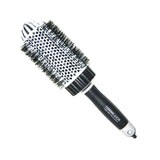 Lado White Ceramic and Ionic Dome Type Hot Curling Brush 3 Inch