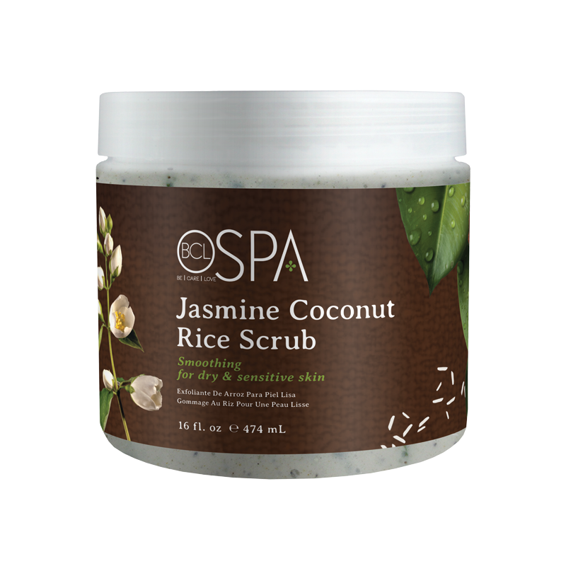 BCL Jasmine Coconut Rice Scrub Smoothing for Dry Sensitive Skin 16 oz